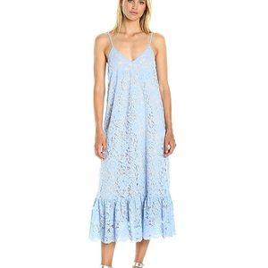 Dresses & Skirts - Bottom flounce lace slip midi dress
